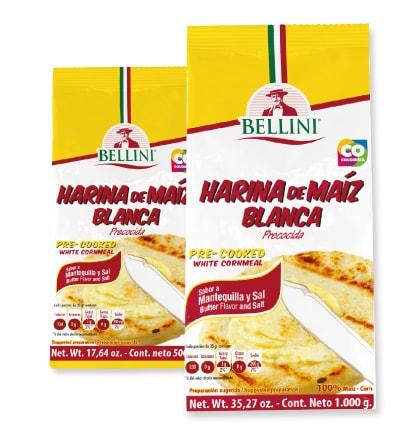 Harina de maíz blanca precocida mantequilla y sal