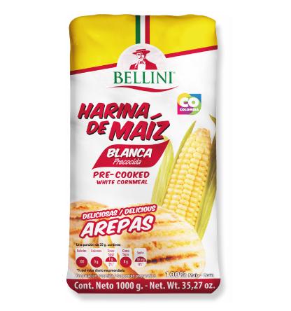 Harina de maíz blanca 1000 gramos