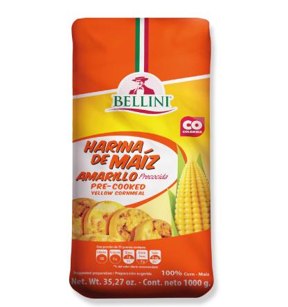 Harina de maíz amarilla precocida Bellini