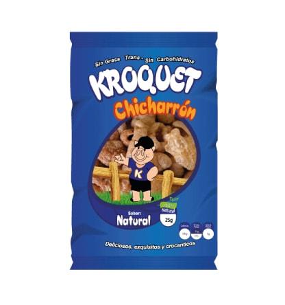 Chicharron natural Kroquet 25 gramos