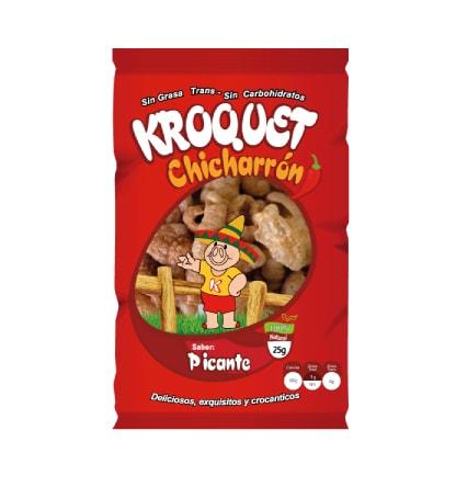 Chicharrón Picante Kroquet 25 gramos