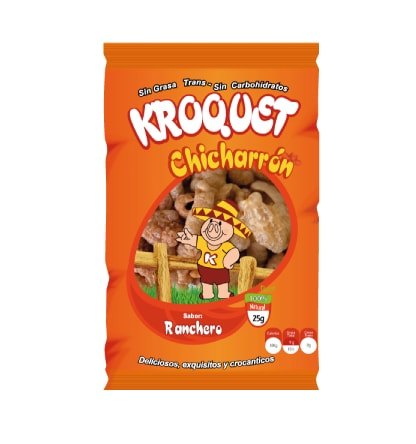 Chicharrón Ranchero Kroquet 25 gramos