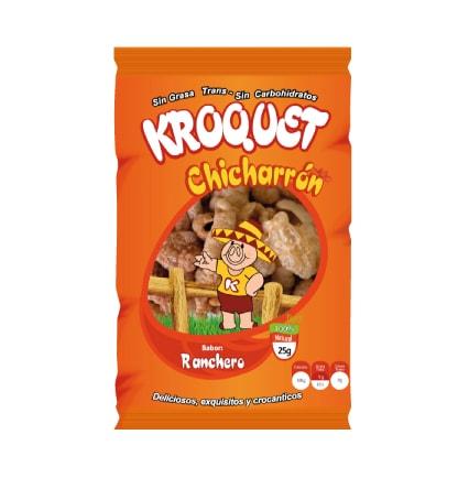 Chicharrón Ranchero Kroquet 25 gramos