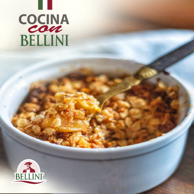 Bellini oat and pineapple crumble